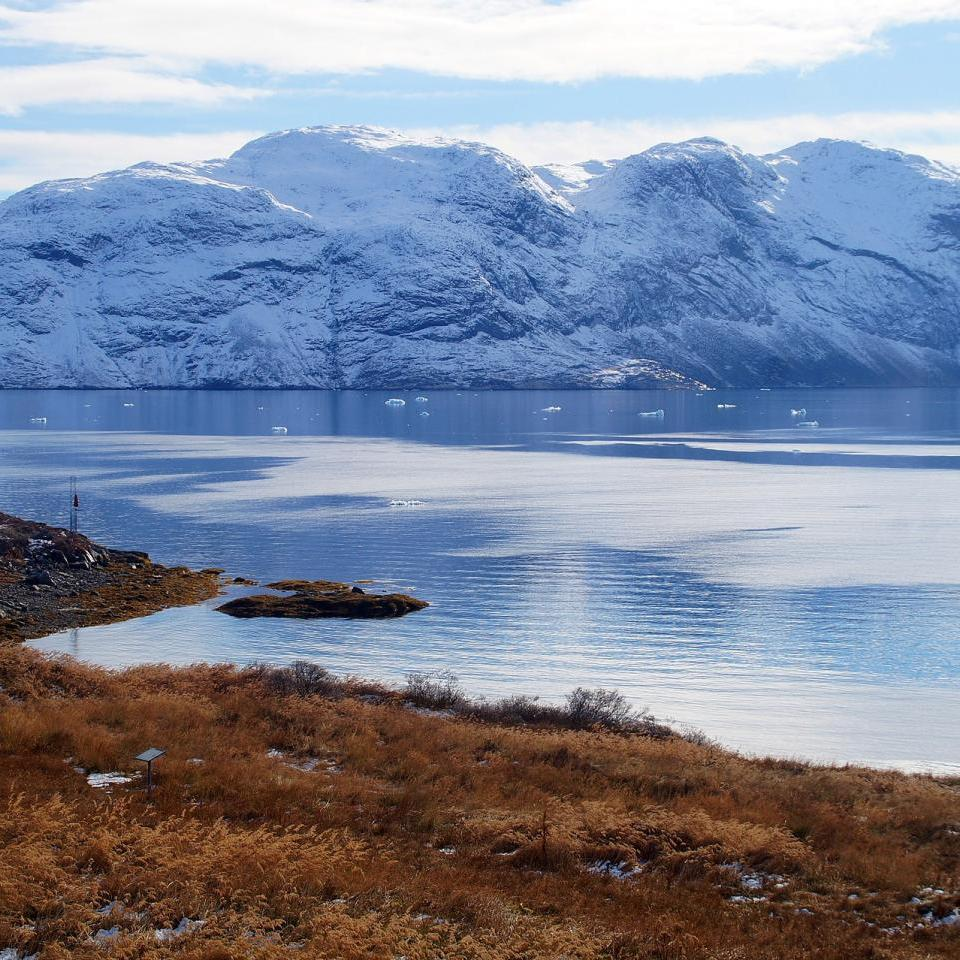 Site in Narsaq where remains have been found from the beginning of Norse settlement in Greenland